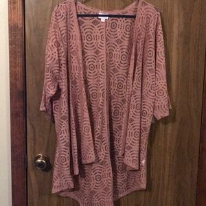 Lace cardigan sweater